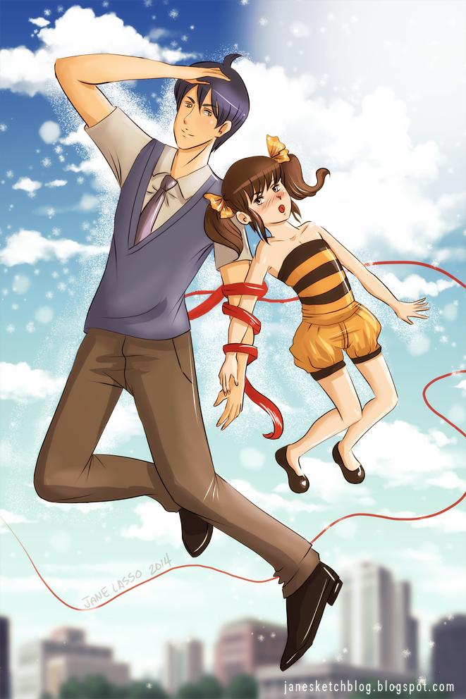 Dibujo de Matt y Chiharu