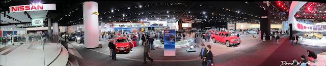auto show panorama, detroit auto show, north american international