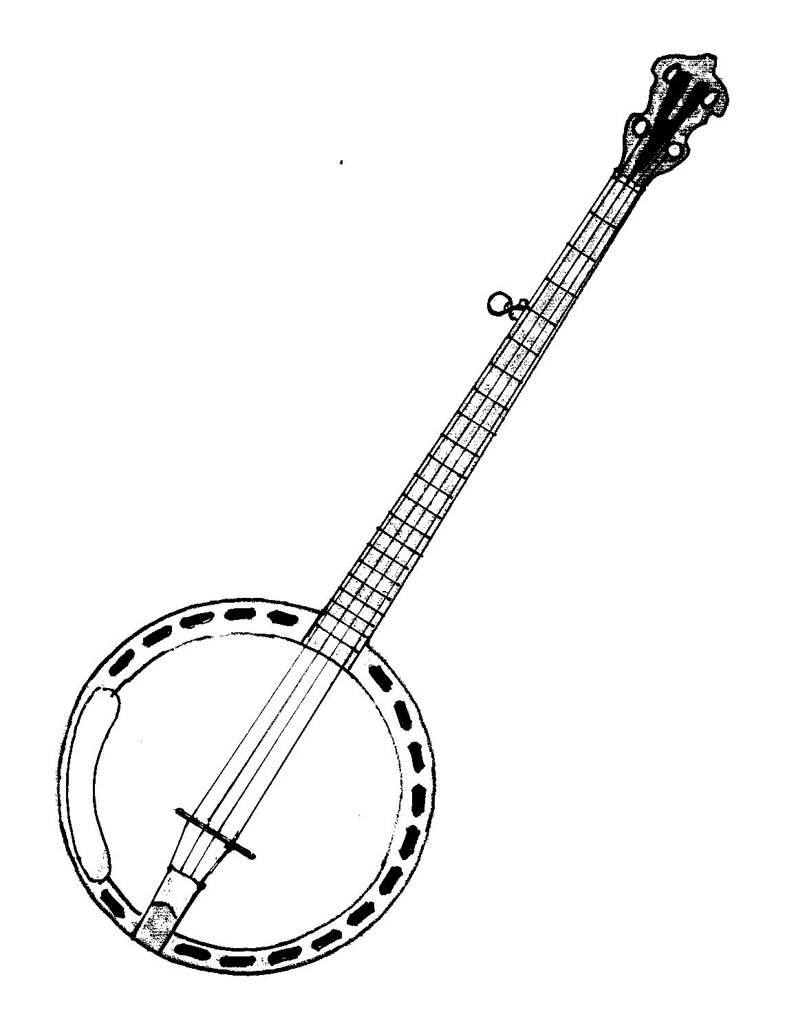 Colorear Banjio Instrumentos Musicales Para Pictures