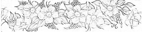 pintura em tecido flores risco toalha de banho