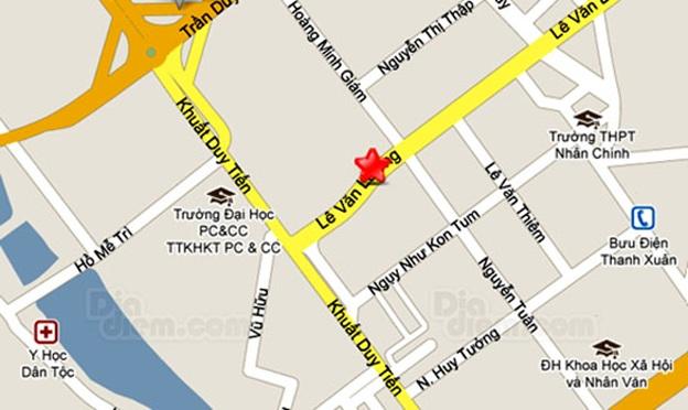 Vị trí chung cư Sunrise City Lê Văn Lương