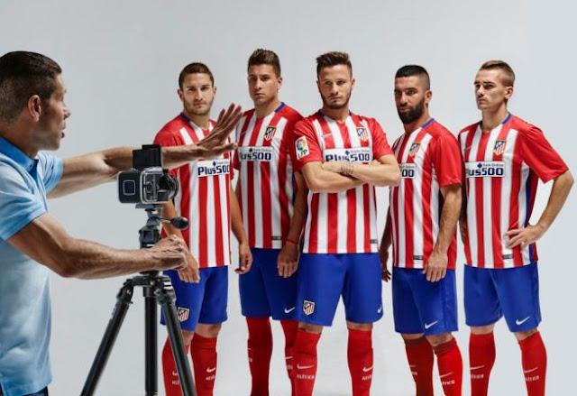 Atletico Madrid giới thiệu áo đấu mới