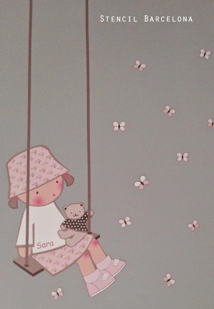 Vinilos infantiles personalizados for Vinilo habitacion nina