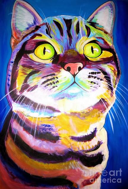 retratos-de-gato-al-oleo