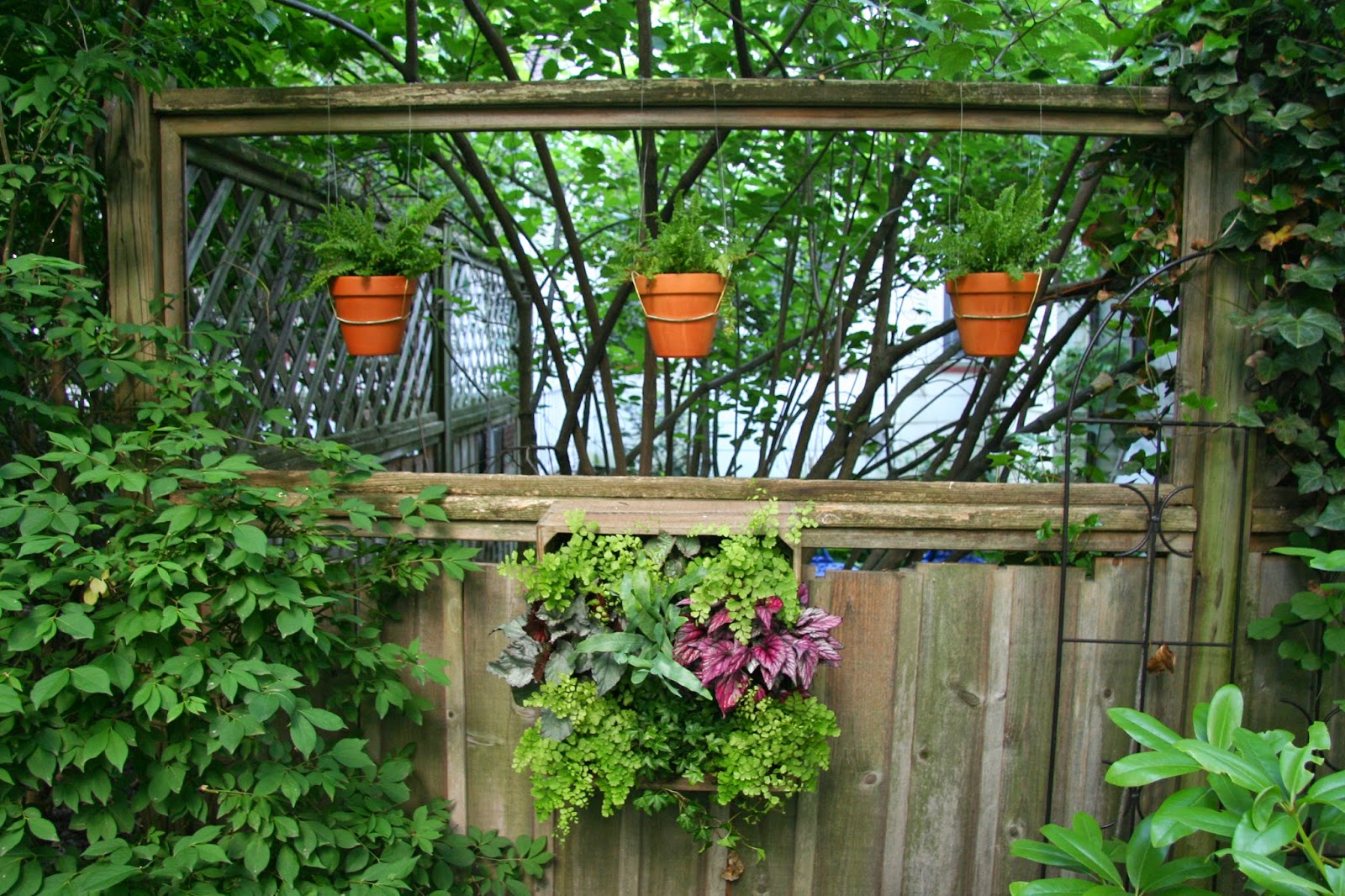 Daffodils daydreams how to dress up a dilapidated fence for Vertical garden panels