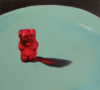 gummy bear art, original oil painting by jeanne vadeboncoeur