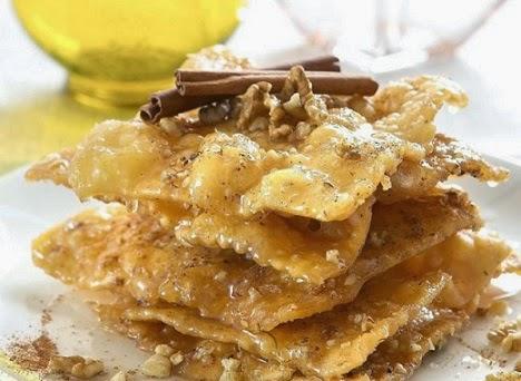 Avgokalàmara cretan sweet recipe, Mediterranean Diet, The Cretan Diet,