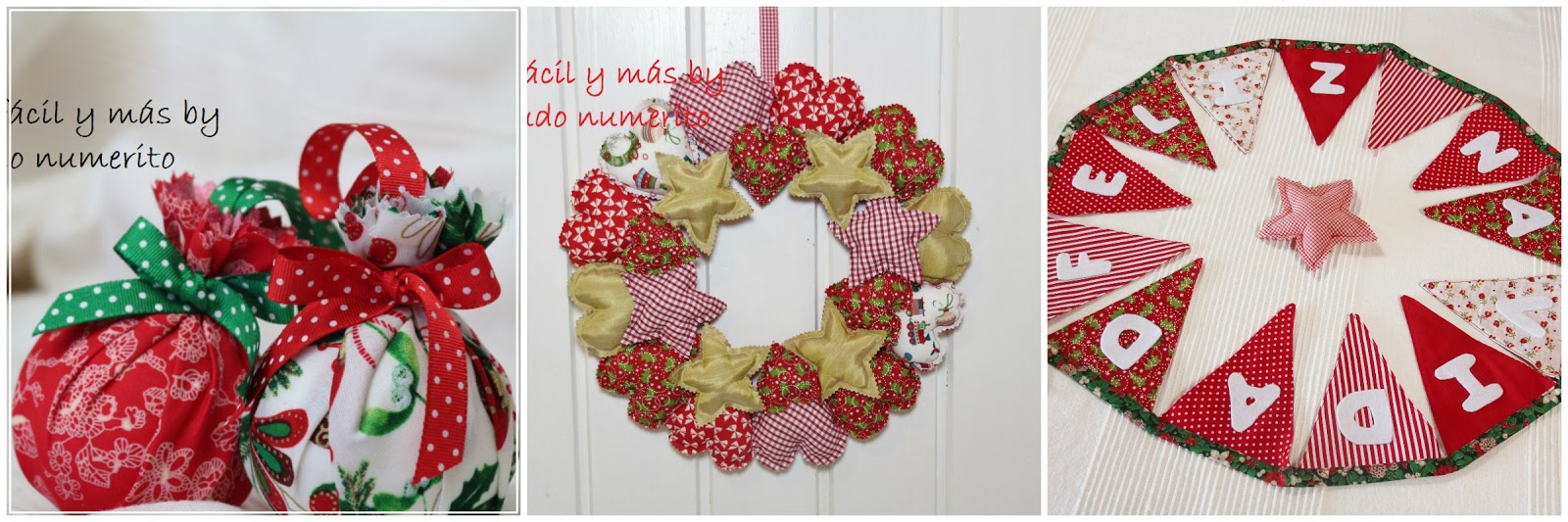 Un rbol de navidad handmade el blog de coser f cil y - Arbol navidad tela ...