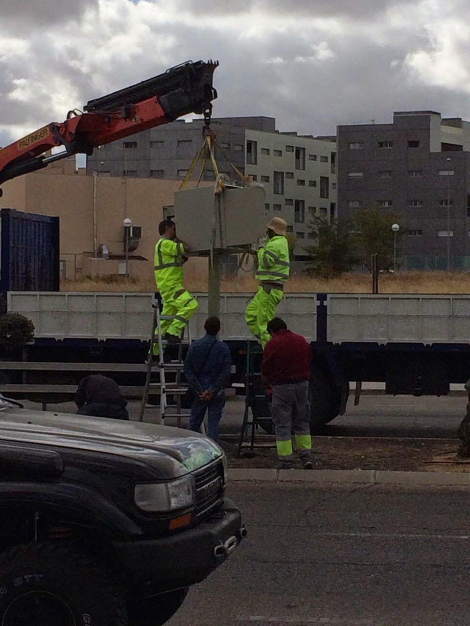 instalacion radar fijo avenida cerro del rubal en parla madrid