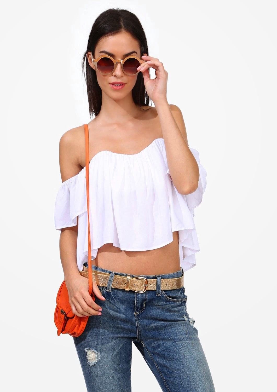 Look for Less Lulus Stone Cold Holy Tube Off the Shoulder Crop Top