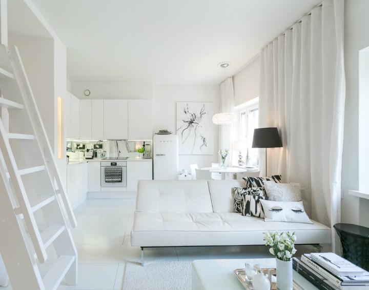 HOUSE OF SILVER: Hvid drømmelejlighed - lille og elegant