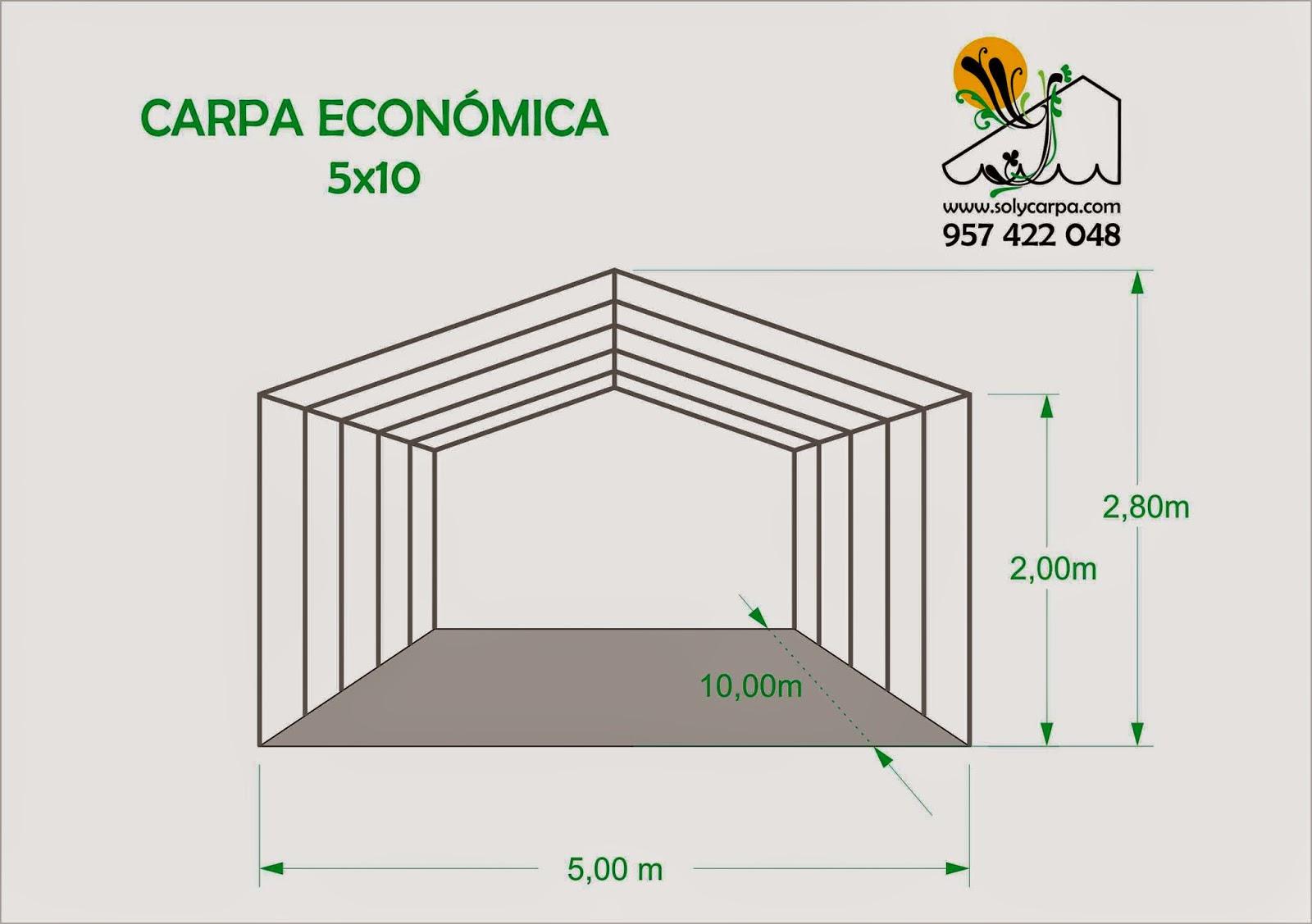 Solycarpa carpas econ micas carpa 5x10 - Carpas plegables economicas ...