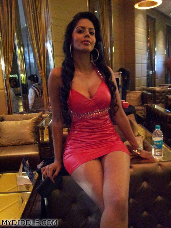 Bhairavi Goswami in Red Dress - Bhairavi Goswami in a Red Hot dress