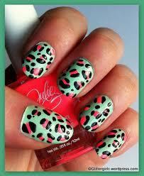 nail art Decoração Leopard
