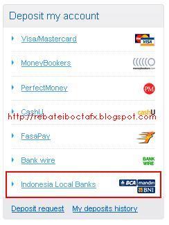 Deposit Local Bank OctaFx Bank Mandiri Step-1
