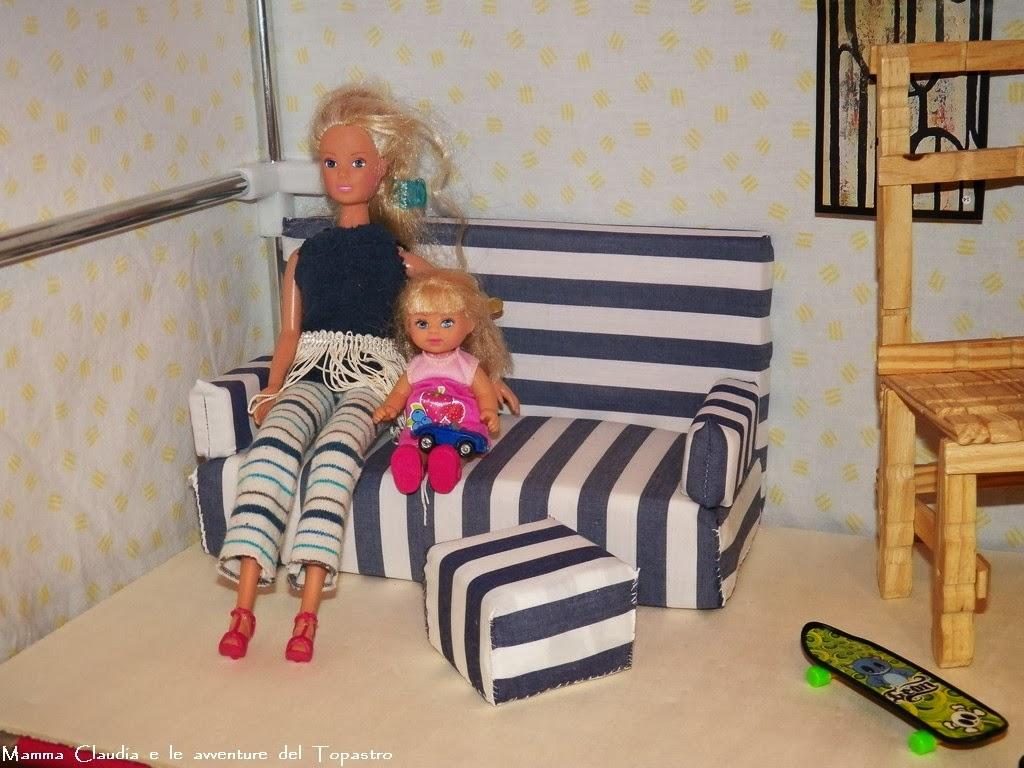 Mamma Claudia e le avventure del Topastro: Divano per Barbie fai da te
