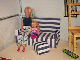 Mamma claudia e le avventure del topastro divano per barbie fai da te - Creazioni fai da te per la casa ...