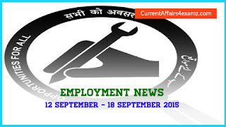 Employment News September 2015