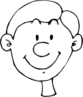 Smiling Boy Coloring Page
