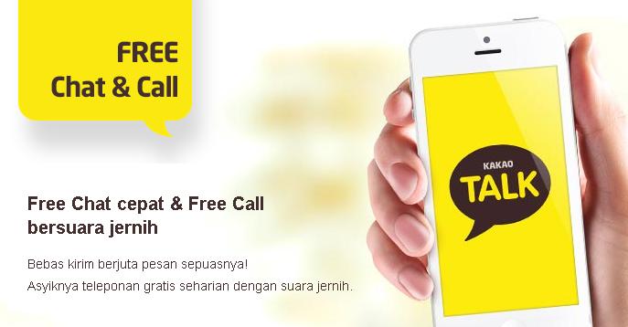 Free Chat dan Free Call Dengan Aplikasi KakaoTalk