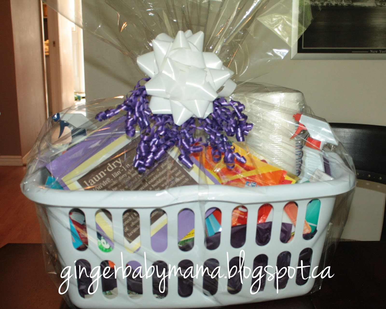 Cheap Bridal Shower Gift Basket Ideas : Here are all of the supplies I used to put together the present: