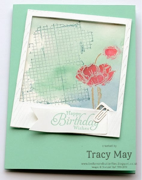 Stampin Up Off the Grid Simply Sketched On Film Tracy May