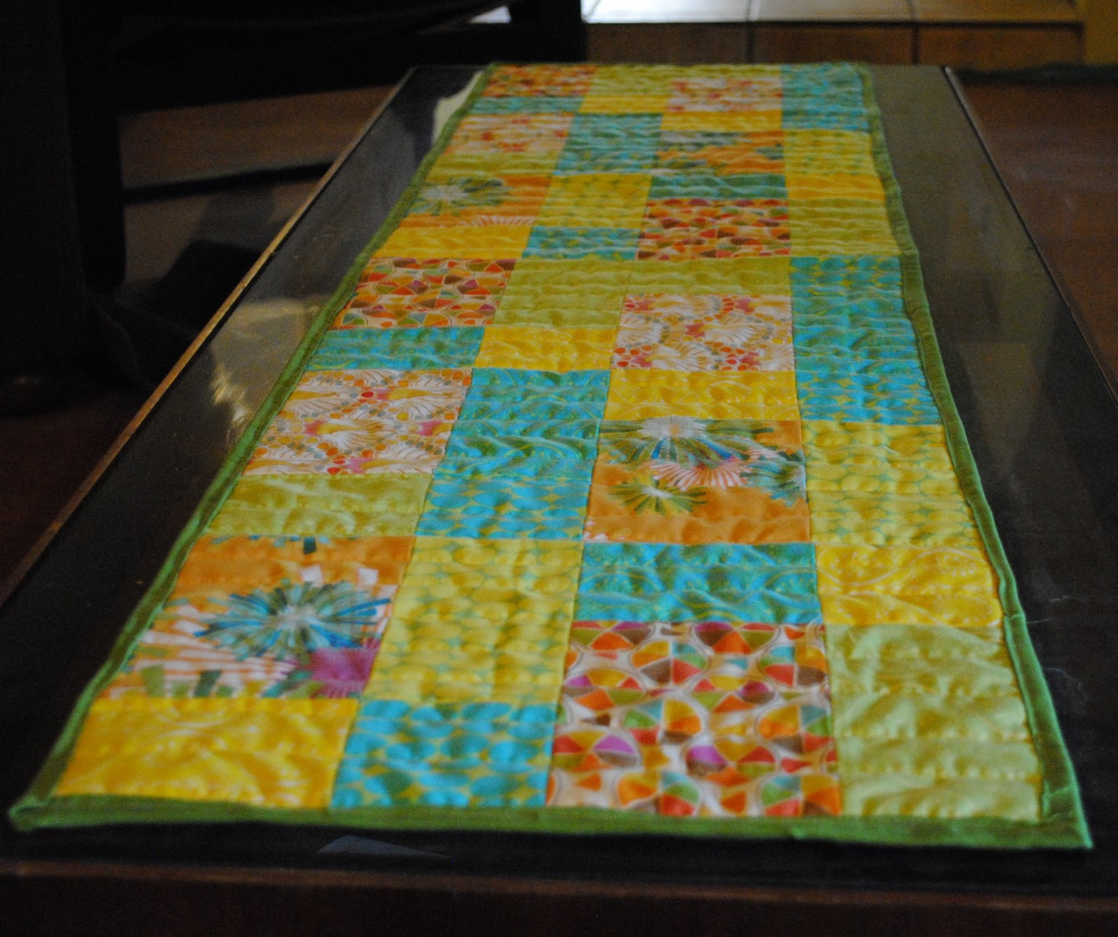 table runner on coffee table