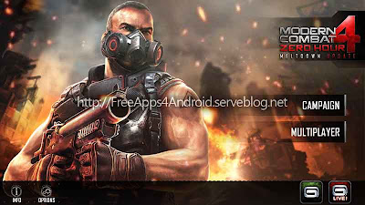 Modern Combat 4: Zero Hour Free Apps 4 Android