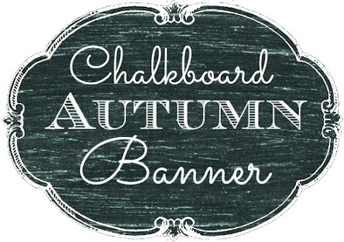 Chalkboard Autumn Banner {Printable} from Blissful Roots