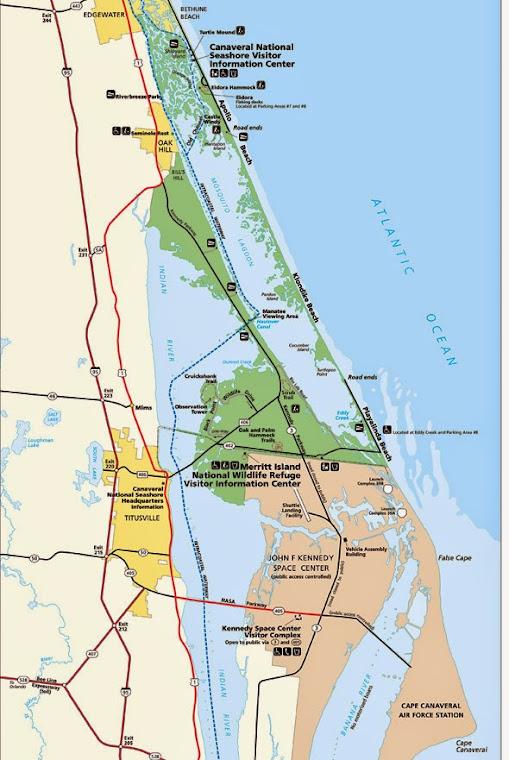 CANAVERAL NATIONAL SEASHORE, 38 KILOMÈTRES DE DIFFÉRENTES PLAGES______________