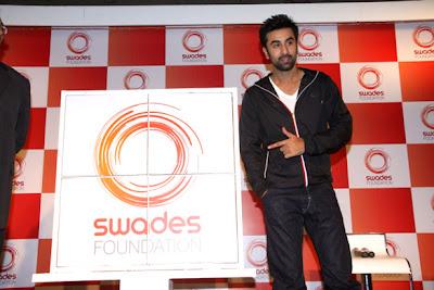 Ranbir Kapoor and Farah khan at Launch of Swades Foundation's new logo