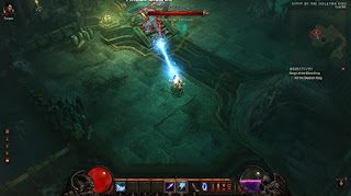 Wizard versus Skeleton King in Diablo III