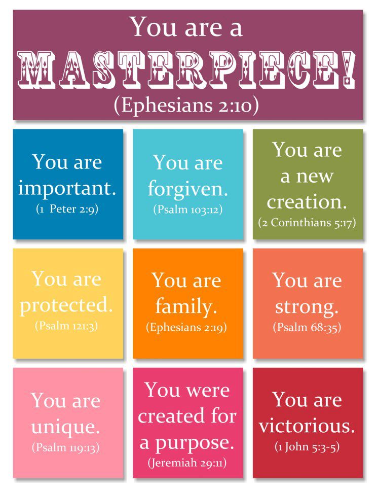 You Are A Masterpiece From Ephesians 210 Christian