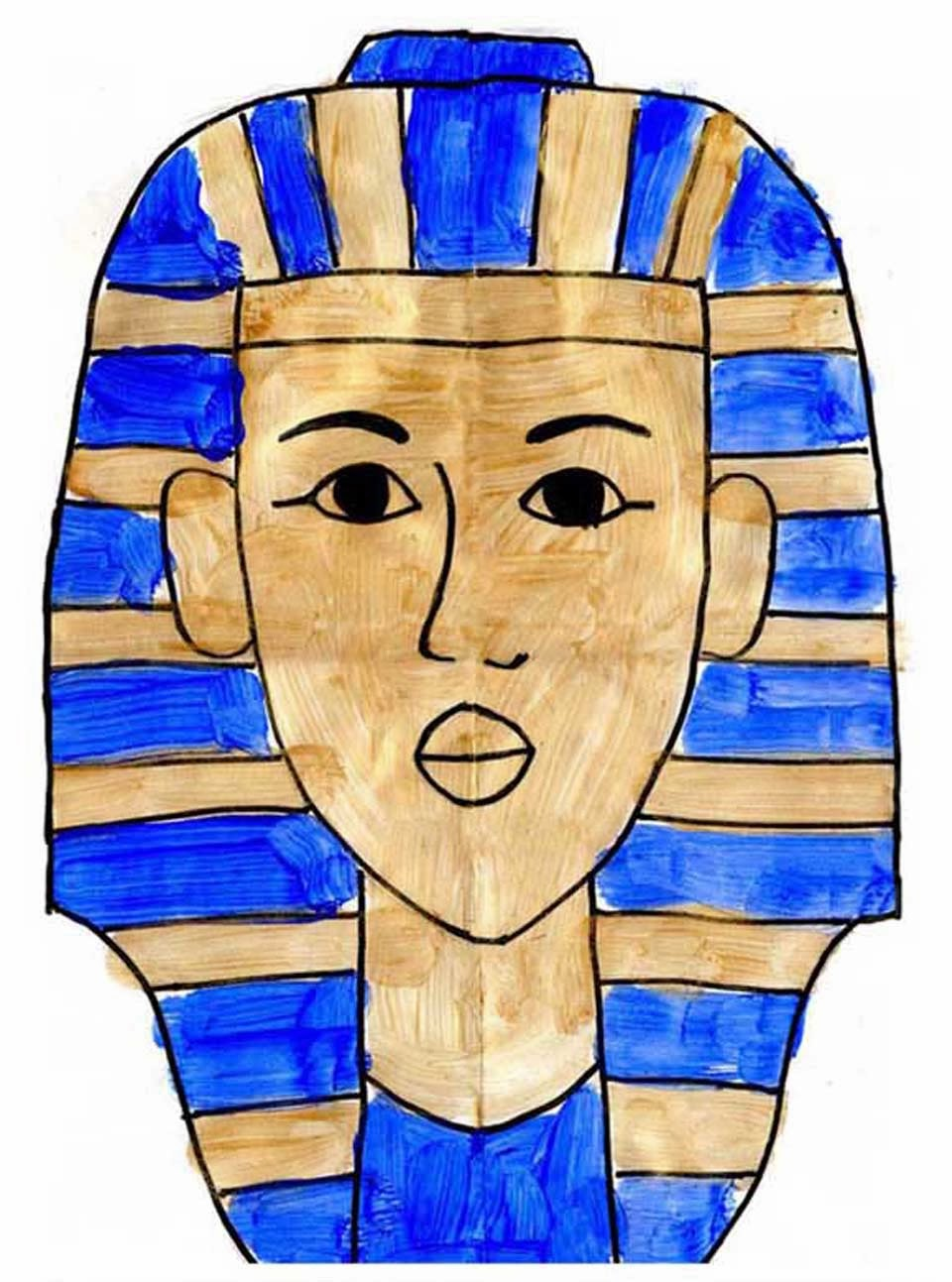 Archaeological tagged  Africa  Page     Period Paper Cheap and Cheerful   WordPress com     Painting of Tutankhamun s death mask on papyrus paper  Cairo  Egypt    Stock Photo