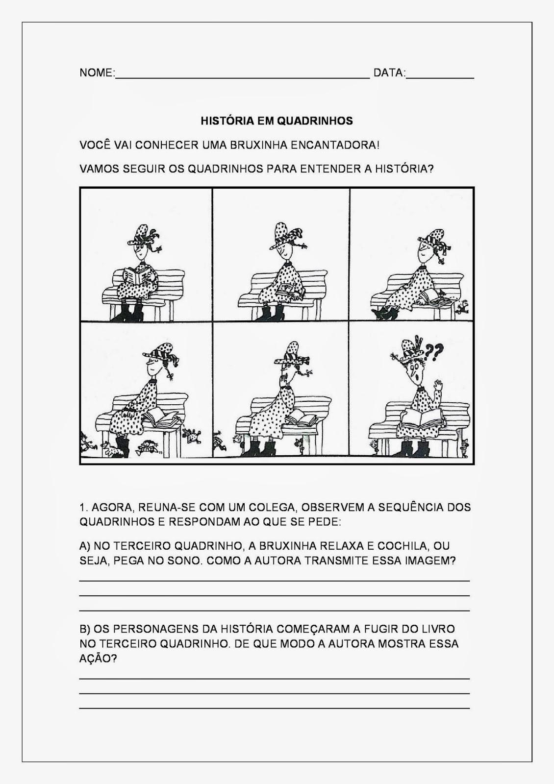 Atividades para Imprimir - História em Quadrinhos