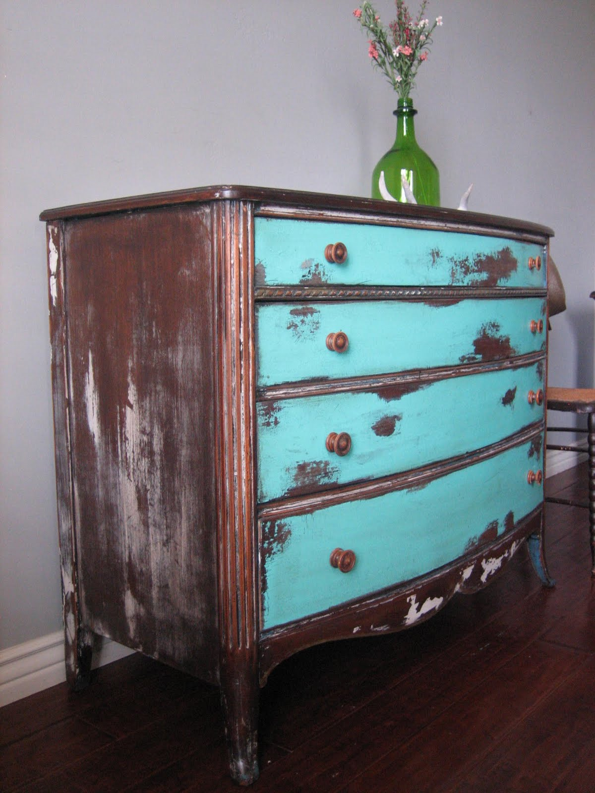 Eclectic weathered dresser for Distressed furniture