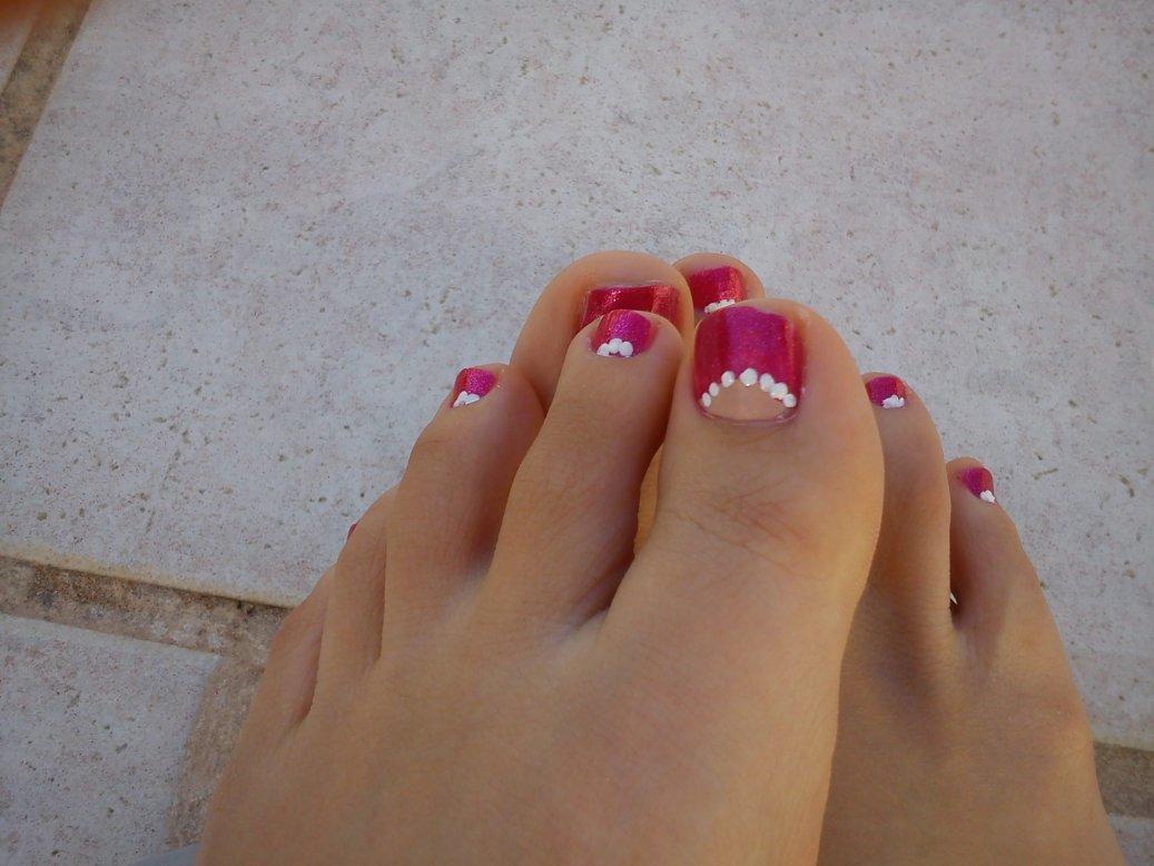 Vp nails nail art sur pied - Pied vernis rouge ...