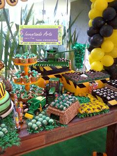 festa decoração trator fazenda