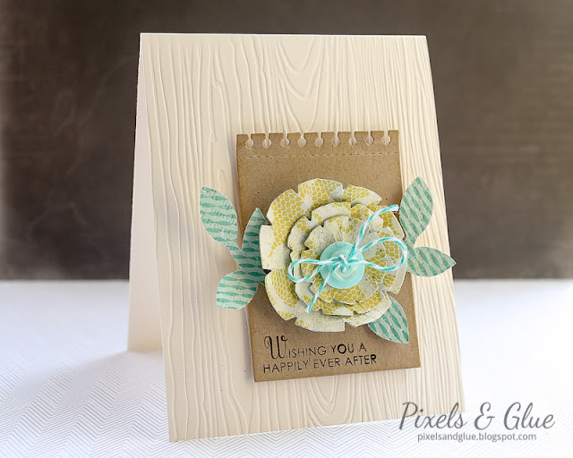 Pixels and Glue - Handmade Wedding Card