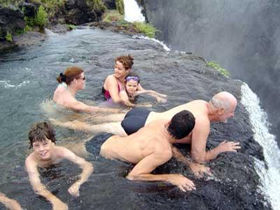 Victoria Falls the Devil's Pool - Zambia - Zimbabwe