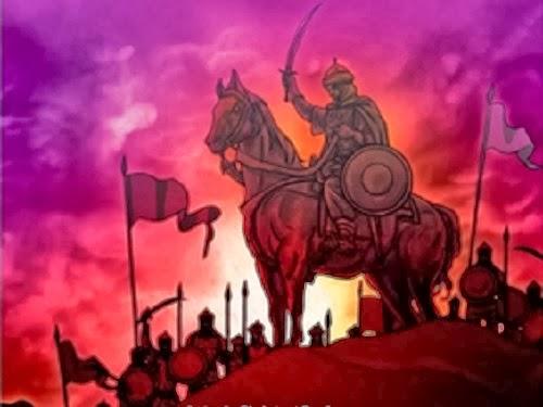 """Ilustrasi dari cover buku """"Belajar dari Perang Khandaq"""" karya Hepi Andi Bastoni"""