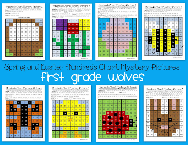 Ms. Wilson's Wolves: 100's Chart Mystery Pictures for Spring!