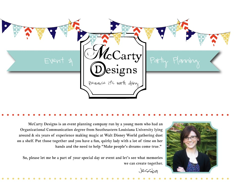 McCarty Designs Party/Event Blog
