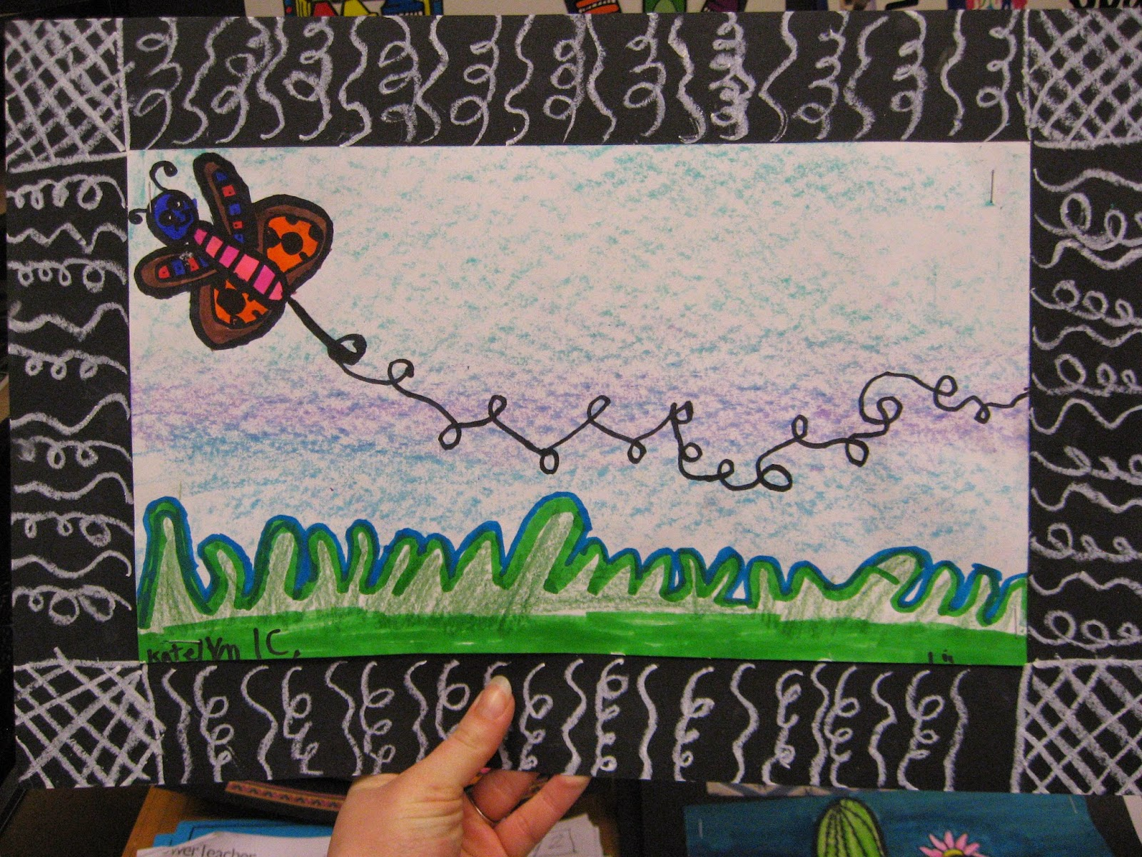 Line Art Lessons For Elementary : Jamestown elementary art st grade movement and line bugs