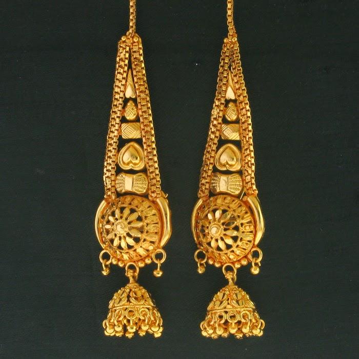Dynamic Views: New Bridal Gold Jhumka Designs 2014-2015 Image Download