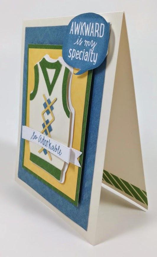 Cricut Geek Card sideview