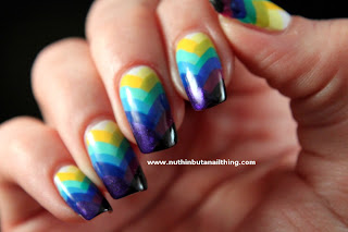 fishtail gradient nail art