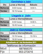 Horario Autobuses