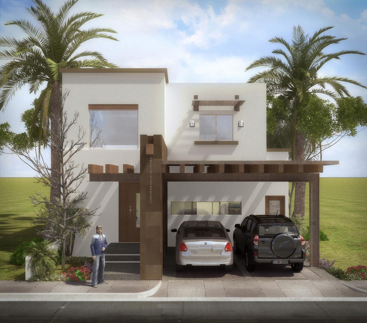 Fachadas de casas modernas enero 2012 for Casa con jardin al frente