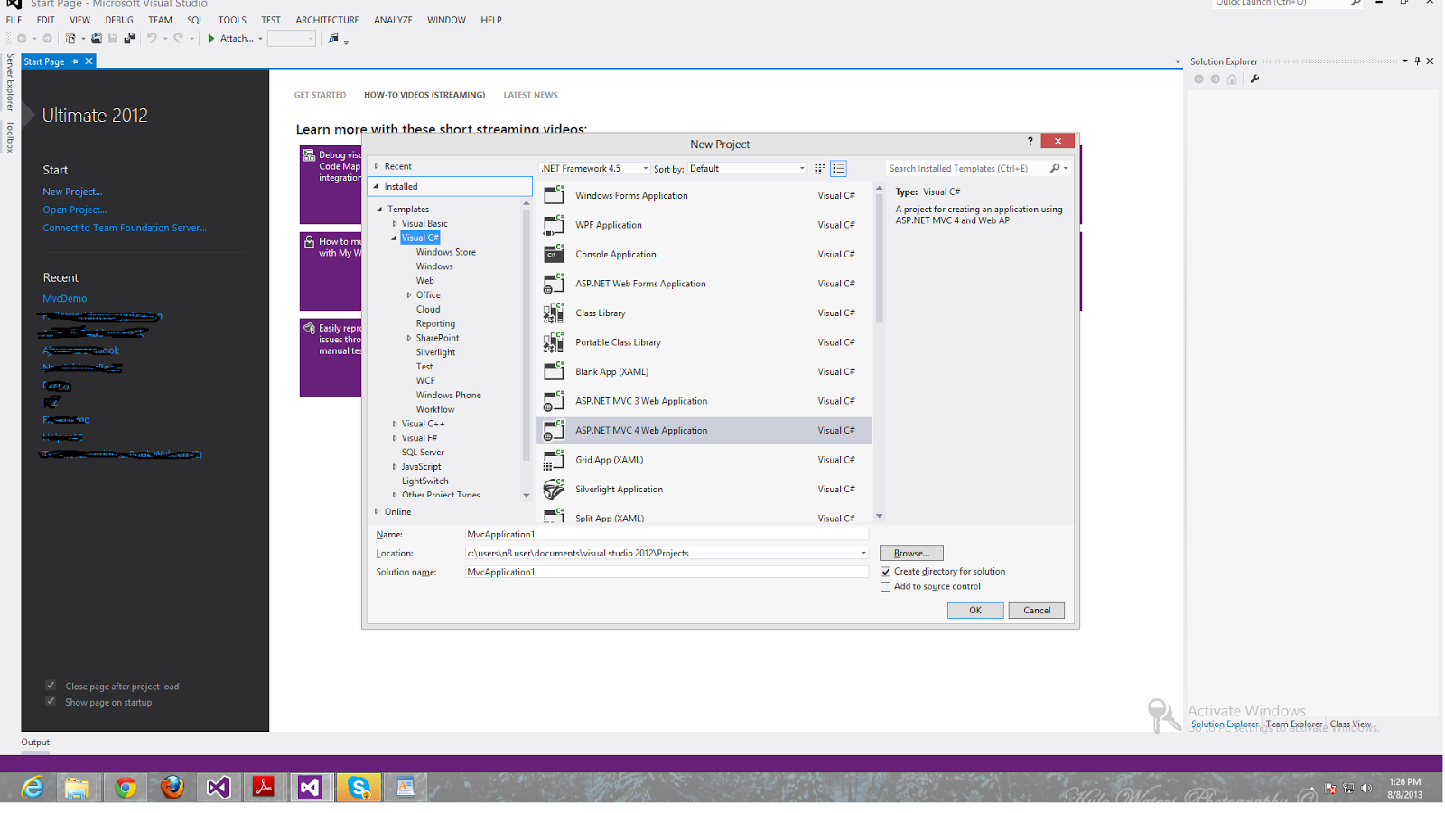 Visual studio 2013 collapse all projects